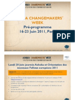 Change Makers Week Draft Program FRENCH
