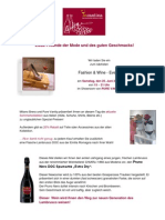 Fashion & Wine - Sommerkollektion