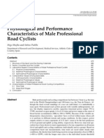 Physiological and Performance Characteristics of Male Professional Road Cyclists