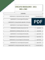 Modelo Circuito 2011 - 4BD e 5BD