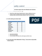 Statistical Quality Control Sheet
