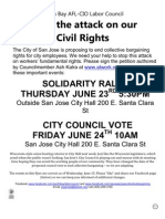Save San Jose Collective Bargaining on June 24!