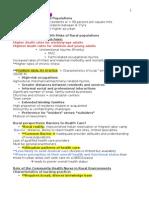 Community Exam 3 Key Pts