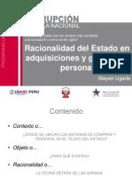 Racionalidad del Estado en adquisiciones y gestión de personal