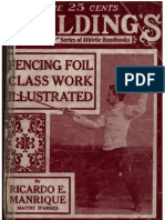 Fencing Foil Class Work Illustrated - Ricardo E. Manriques Maitre D'Armes 1920