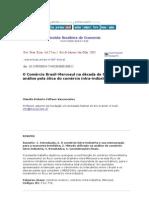 Comércio Brasil-Mercosul na década de 90 Claudio R F Vasconcellos
