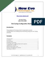 Kiwi Syslog Configuraiton Standard