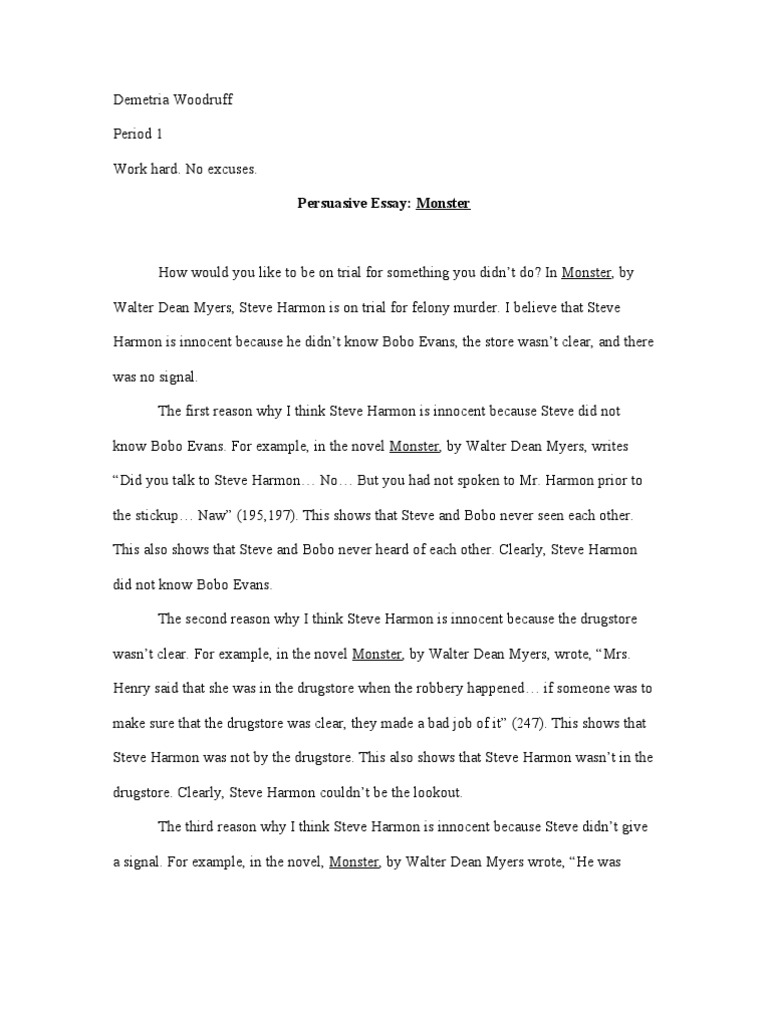 monster essay pixels monster essay