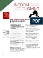 Kingdom Giving 3 - 2 Cor 9_6 Handout 062611