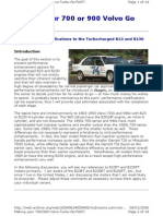 Volvo Turbocharged B230 Tuning