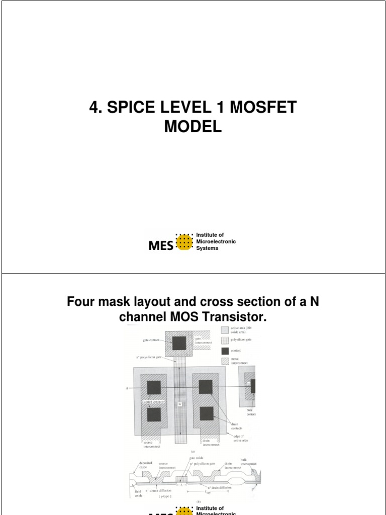 Spice Level 1 | Mosfet | Field Effect Transistor
