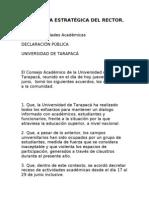 LA JUGADA ESTRATÉGICA DEL RECTOR