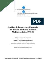 Análisis de la apertura comercial en México mediante modelos multisectoriales