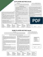 Dune Player Aid Pad