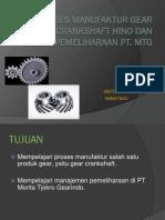 Proses Manufaktur Gear