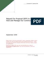 Community RFP Template - Sep2008