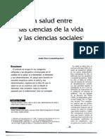 La Salud Entre Las Ciencias de La Vida y Las Ciencias Sociales