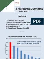 Costo y crédito de la ESUP en Chile