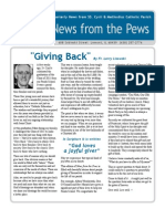 June 2011 News from the Pews