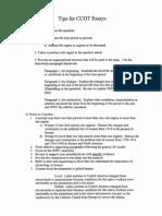 ccot essay tips