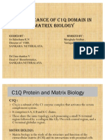Significance of c1Q in Matriq Biology