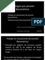Patologías por presión Barométrica