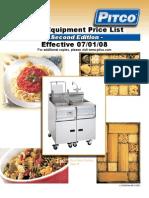Pitco 2008 Equipment Price List L15-020 Rev10