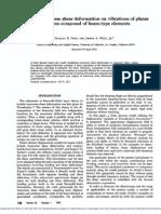 Effect ShearDeformationVibrationPlanarStructures