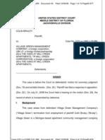 BRULEY v. VILLAGE GREEN MANAGEMENT COMPANY