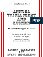 2011 Ashby Primary School Trivia Night and Auction Catalogue and Event Information