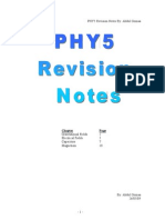 PHY5 Revision Notes