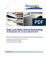 Data Loss Risks During Downsizing Feb 23 2009