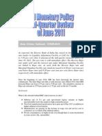 Monetary Policy of June 2011-RBI-VRK100-17062011