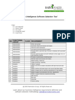 BI Tool Selection Criteria