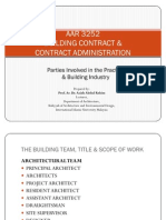 Parties Involved in the Practice & Building Industry