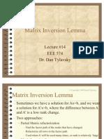 Matrix Inversion Lemma