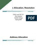 Cis81 IPAddress Allocation Resolution