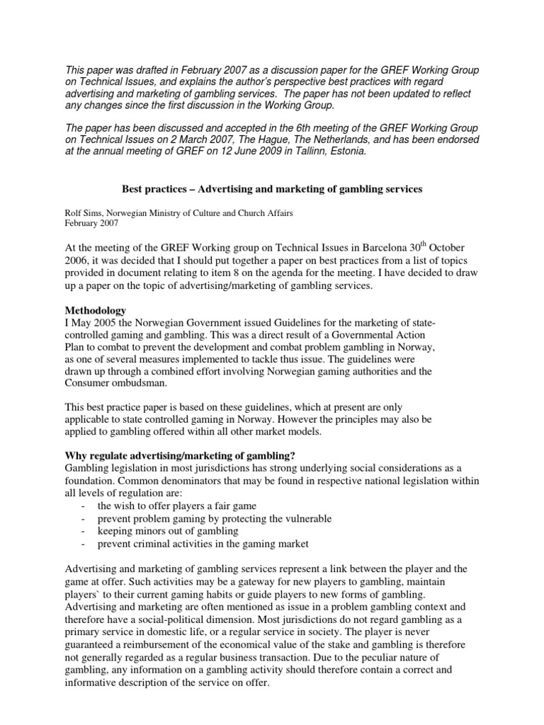 Gambling discussion document down stream casino ok