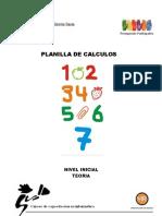 PLANILLA DE CALCULOS INICIAL TEORÍA 2011