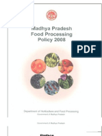 Food Processing Policy Madhya Pradesh 2008 (1)