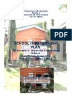 SCHOOL IMPROVEMENT PLAN OF ROSARIO V. MARAMBA ELEMENTARY SCHOOL 2011 - 2013