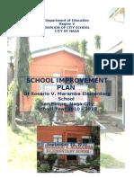 SCHOOL IMPROVEMENT PLAN OF ROSARIO V. MARAMBA ELEMENTARY SCHOOL 2011 - 2013