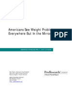 Americans See Weight Problems every where but in mirror!!!