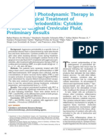 Antimicrobial Photo Dynamic Therapy in the Non-surgical Treatment of Aggressive Period on Tit Is Cytokine Profile in Gingival Crevicular Fluid, Preliminary Results