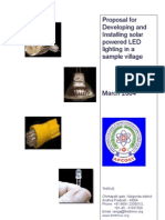 Proposal for Developing Solar Powered LED LIGHTING for ONE VILLIAGE