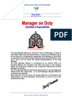 Duty Manager's Manual