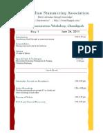 Chandigarh Workshop Agenda