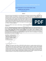 ONU-ESCAP Trade and Investment Division, Staff Working Paper 02/10 Examining the Potential for Cross-South Pacific Trade