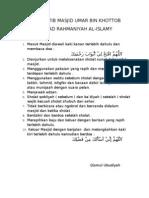 Tata Tertib Masjid Umar Bin Khottob Ma