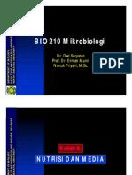 Bio210 Slide Kuliah 6 - Nutrisi Dan Media